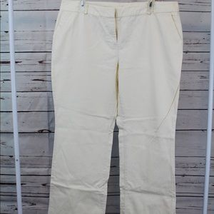 Cream/Ivory New York & Company Pants - Size 14